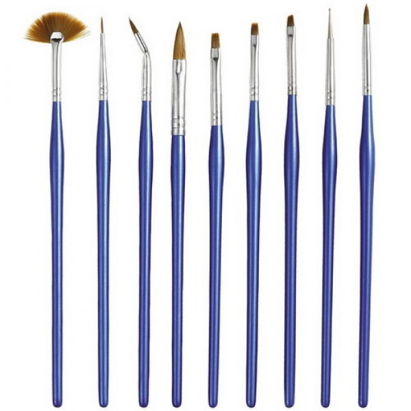 9 Nail Brush Set